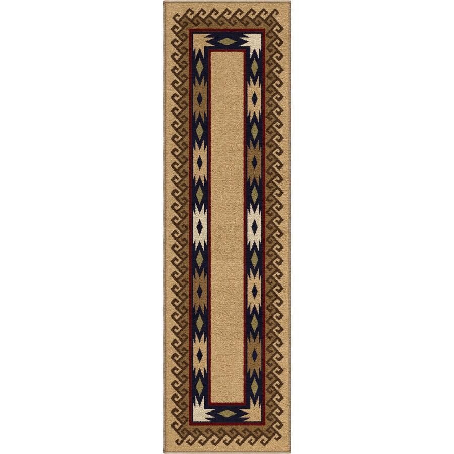 Orian Rugs San Angelo Beige Rectangular Indoor Machine-made Lodge Runner (Common: 2 x 8; Actual: 2.25-ft W x 8-ft L)