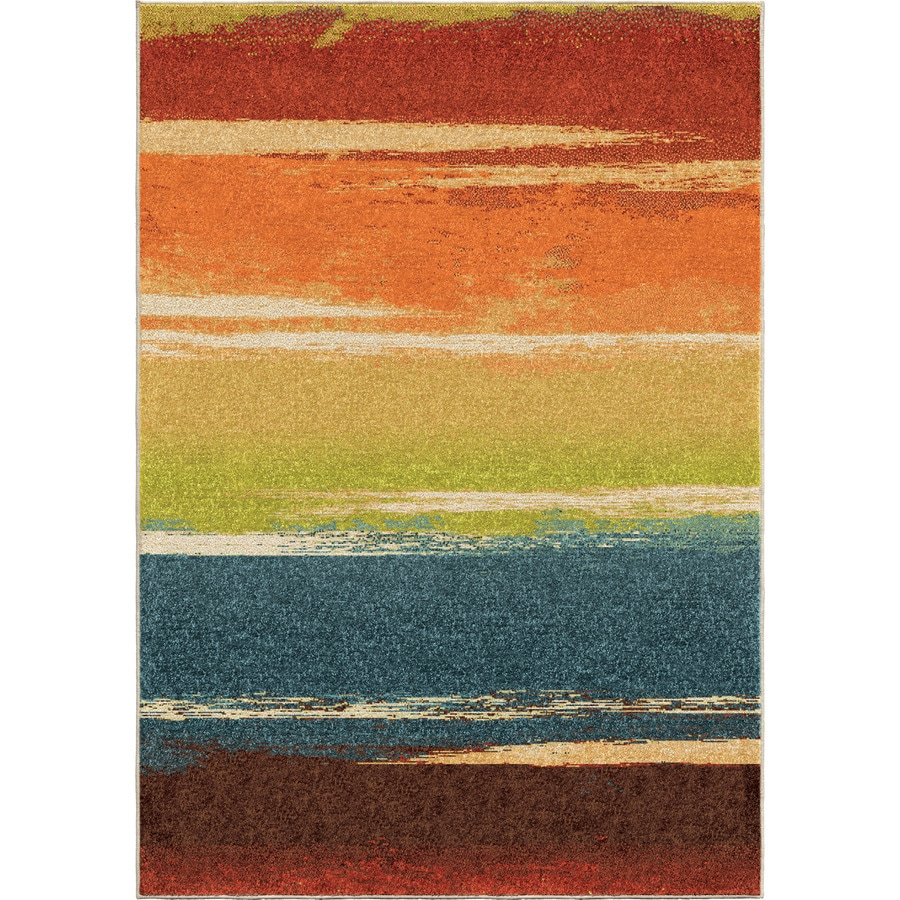Orian Rugs Magnificent Multi Rectangular Indoor Machine-made Novelty Area Rug (Common: 5 x 8; Actual: 5.25-ft W x 7.5-ft L)