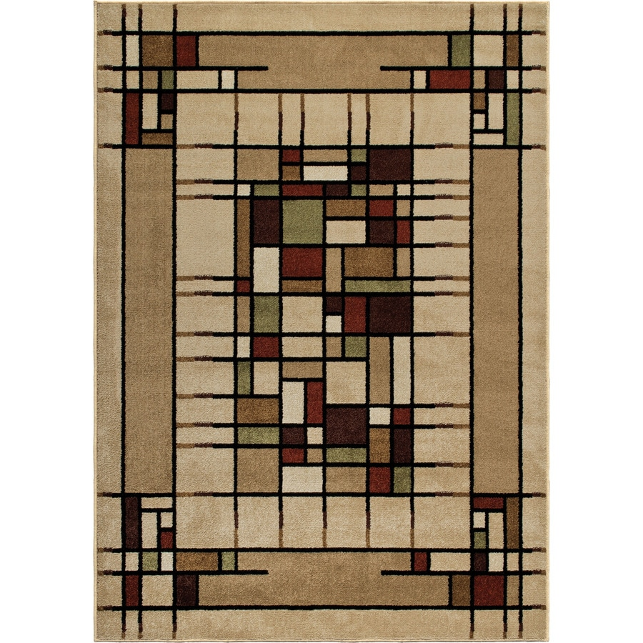 Orian Rugs Dreco Multi Rectangular Indoor/Outdoor Machine-made Novelty Throw Rug (Common: 4 x 6; Actual: 3.83-ft W x 5.42-ft L)