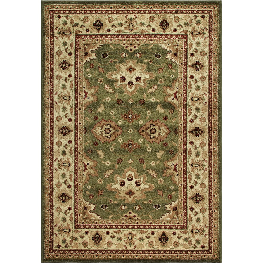 Orian Rugs Shayd Green Indoor/Outdoor Oriental Area Rug (Common: 5 x 8; Actual: 5.17-ft W x 7.5-ft L)