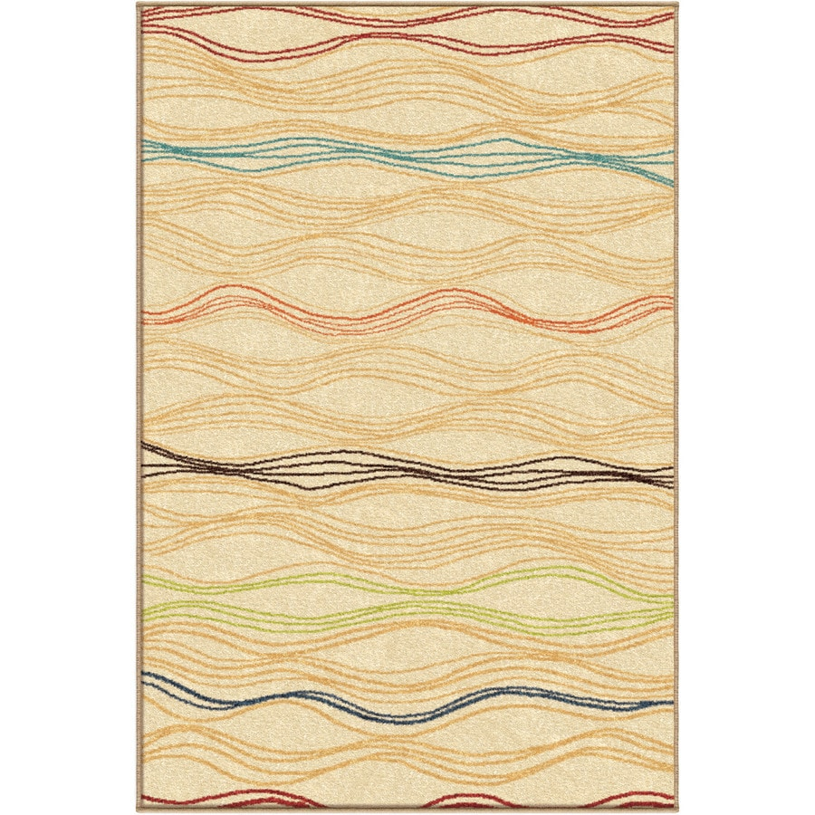 Orian Rugs Lourdes White Rectangular Indoor/Outdoor Machine-made Novelty Area Rug (Common: 8 x 11; Actual: 7.67-ft W x 10.83-ft L)