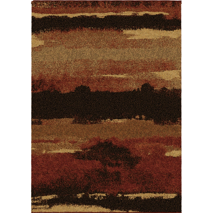 Orian Rugs Cabell Red Indoor Novelty Area Rug (Common: 8 x 11; Actual: 7.83-ft W x 10.83-ft L)
