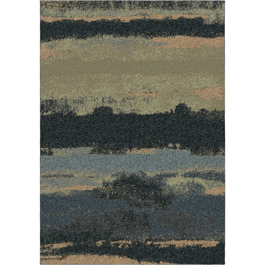 Orian Rugs Cabell Gray Blue Rectangular Indoor Machine-made Novelty Area Rug (Common: 5 x 8; Actual: 5.25-ft W x 7.5-ft L)