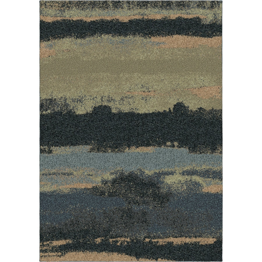 Orian Rugs Cabell Gray Blue Rectangular Indoor Machine-made Novelty Area Rug (Common: 8 x 11; Actual: 7.83-ft W x 10.83-ft L)
