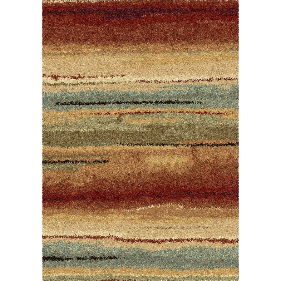 Orian Rugs Euphoria Multi Rectangular Indoor Machine-Made Novelty Throw Rug (Common: 4 x 6; Actual: 3-ft W x 5-ft L)