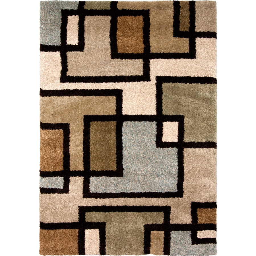 Orian Rugs Honoray Multi Rectangular Indoor Machine-made Novelty Area Rug (Common: 5 x 8; Actual: 5.25-ft W x 7.5-ft L)