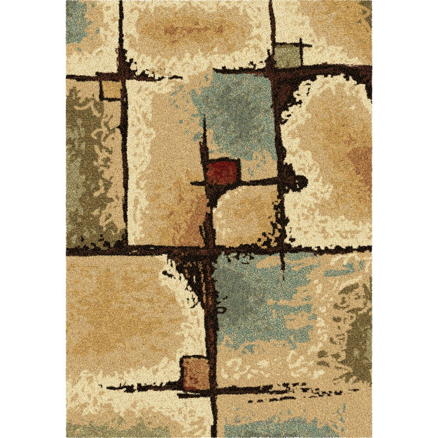 Orian Rugs Jacci Beige Rectangular Indoor Machine-made Novelty Area Rug (Common: 8 x 11; Actual: 7.83-ft W x 10.83-ft L)