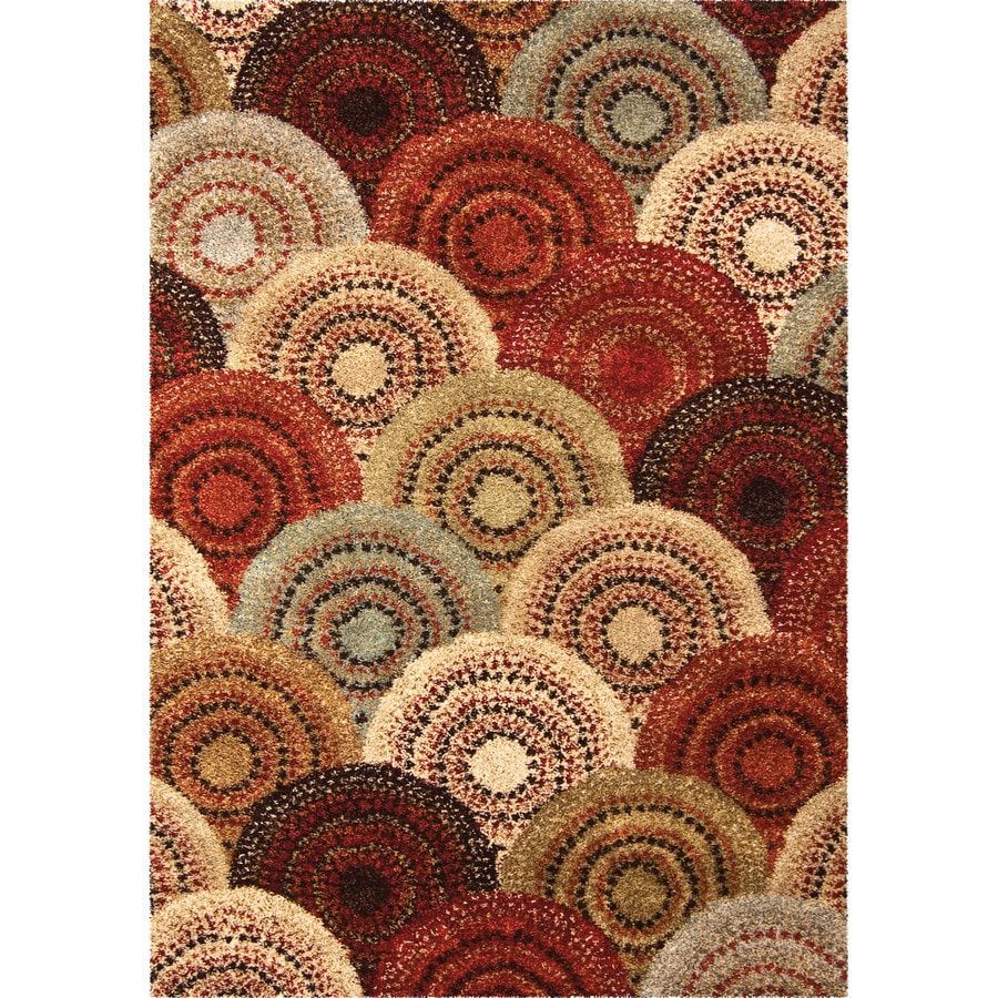 Orian Rugs Lever Indoor Novelty Throw Rug (Common: 4 x 6; Actual: 3.92-ft W x 5.42-ft L)