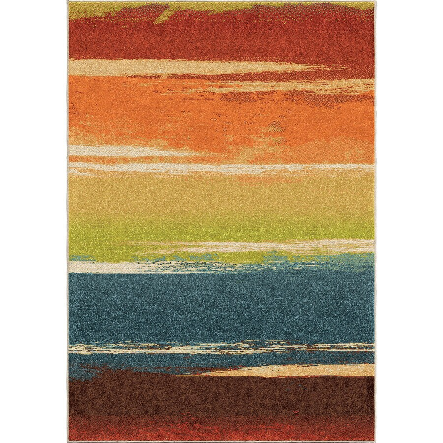 Orian Rugs Magnificent Multi Rectangular Indoor Machine-made Novelty Area Rug (Common: 8 x 11; Actual: 7.83-ft W x 10.83-ft L)
