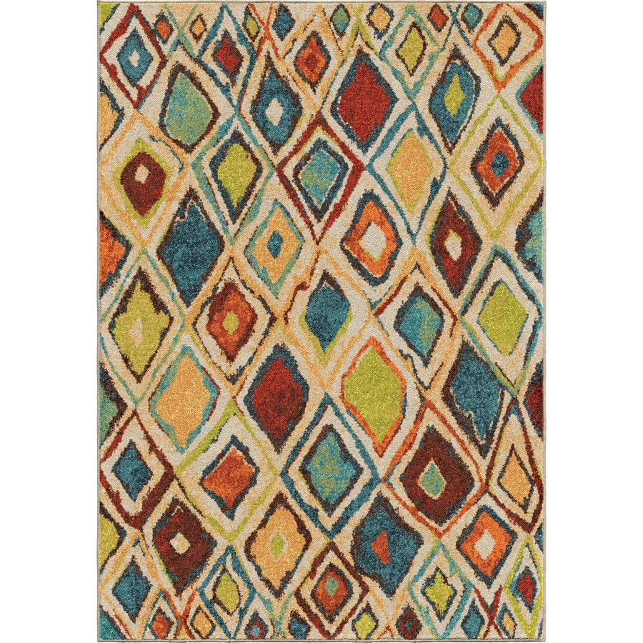 Orian Rugs Dazzl Diamond Multi Rectangular Indoor Machine-made Novelty Area Rug (Common: 8 x 11; Actual: 7.83-ft W x 10.83-ft L)