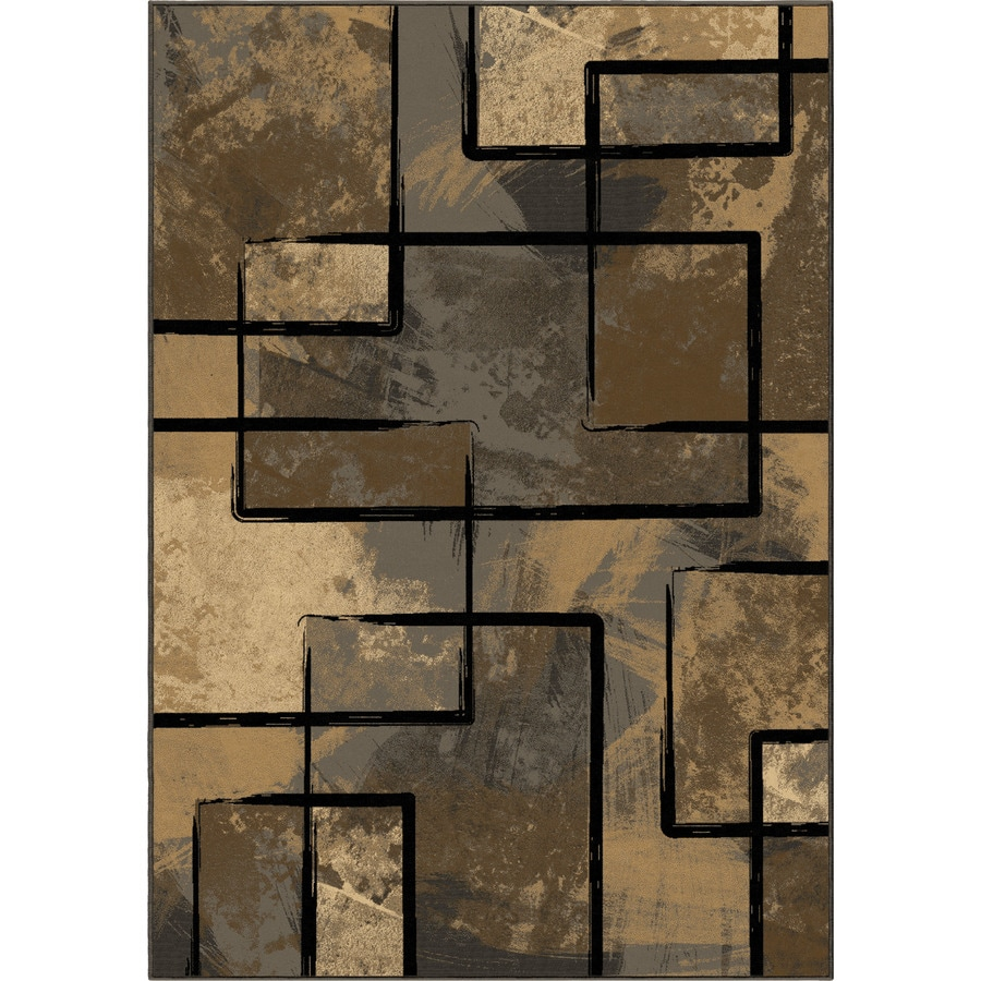 Orian Rugs Clay Silver Rectangular Indoor Machine-made Novelty Area Rug (Common: 8 x 11; Actual: 7.83-ft W x 10.83-ft L)