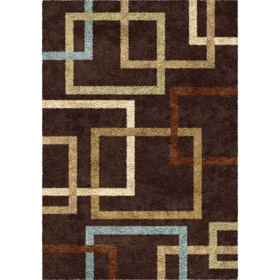 Orian Rugs Linked-In Mocha Indoor Novelty Area Rug (Common: 8 x 11; Actual: 7.83-ft W x 10.83-ft L)