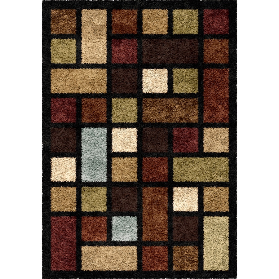 Orian Rugs Color Grid Multi Rectangular Indoor Machine-made Novelty Area Rug (Common: 5 x 8; Actual: 5.25-ft W x 7.5-ft L)