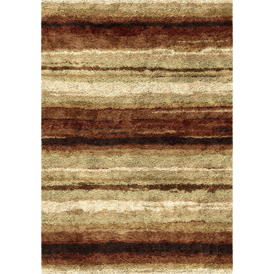 Orian Rugs Rural Road Red Rectangular Indoor Machine-made Novelty Area Rug (Common: 8 x 11; Actual: 7.83-ft W x 10.83-ft L)