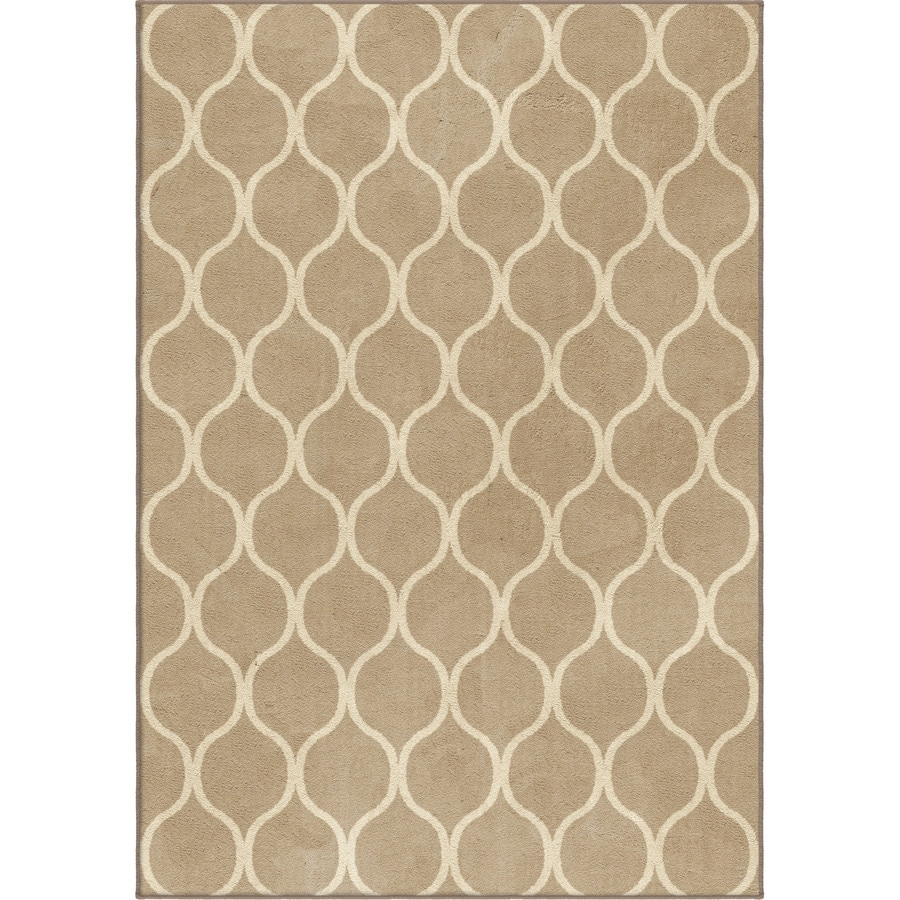 Orian Rugs Infinity Adobe Indoor Novelty Area Rug (Common: 5 x 8; Actual: 5.25-ft W x 7.5-ft L)