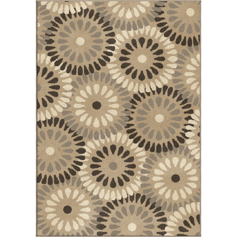 Orian Rugs Windmill Grey Rectangular Indoor Machine-made Novelty Area Rug (Common: 5 x 8; Actual: 5.25-ft W x 7.5-ft L)