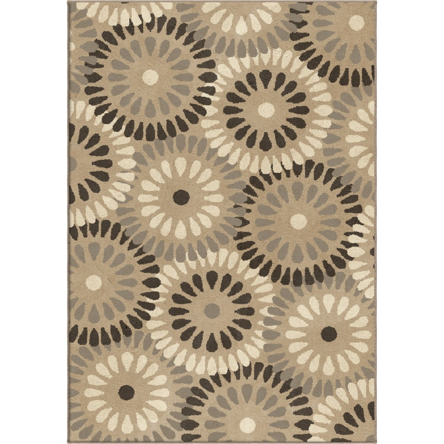 Orian Rugs Windmill Grey Rectangular Indoor Machine-made Novelty Area Rug (Common: 8 x 11; Actual: 7.83-ft W x 10.83-ft L)