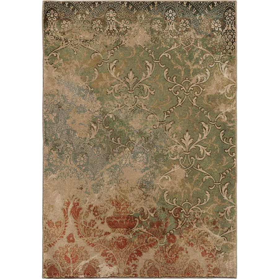 Orian Rugs Goddess Multi Rectangular Indoor Machine-made Oriental Area Rug (Common: 8 x 11; Actual: 7.83-ft W x 10.83-ft L)