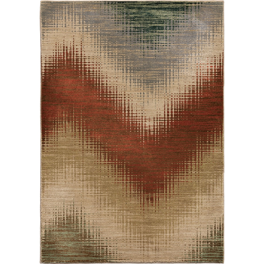 Orian Rugs Zig Multi Rectangular Indoor Machine-made Novelty Area Rug (Common: 5 x 8; Actual: 5.25-ft W x 7.5-ft L)