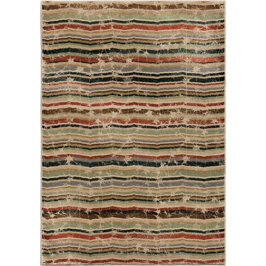 Orian Rugs Forever Wave Multi Rectangular Indoor Machine-made Novelty Area Rug (Common: 5 x 8; Actual: 5.25-ft W x 7.5-ft L)