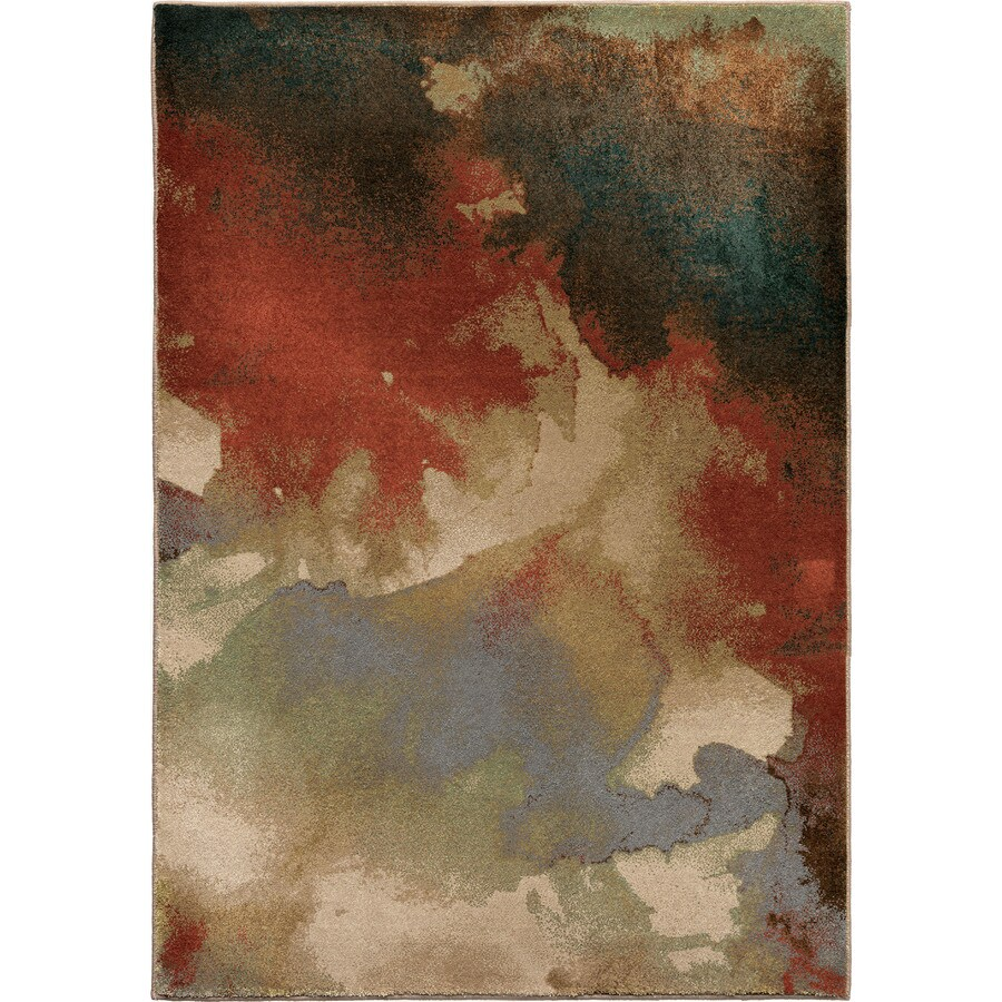 Orian Rugs Blotch Multi Rectangular Indoor Machine-made Novelty Area Rug (Common: 5 x 8; Actual: 5.25-ft W x 7.5-ft L)
