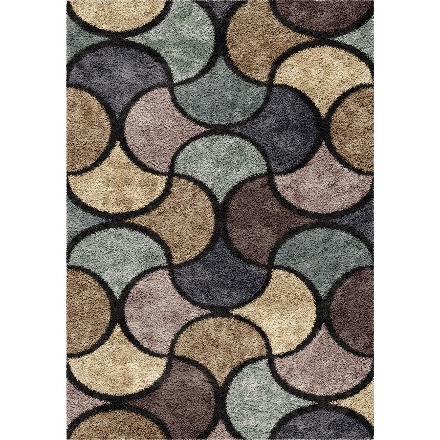 Orian Rugs Chimera Blue Rectangular Indoor Machine-made Novelty Area Rug (Common: 8 x 11; Actual: 7.83-ft W x 10.83-ft L)