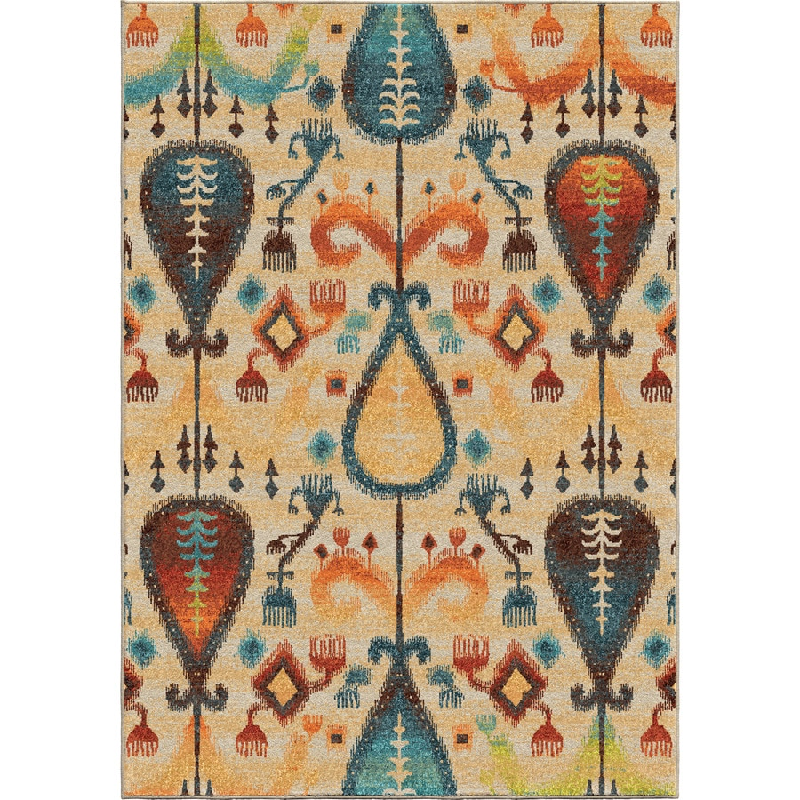 Orian Rugs Classical Realm Ivory Rectangular Indoor Machine-made Novelty Area Rug (Common: 5 x 8; Actual: 5.25-ft W x 7.5-ft L)