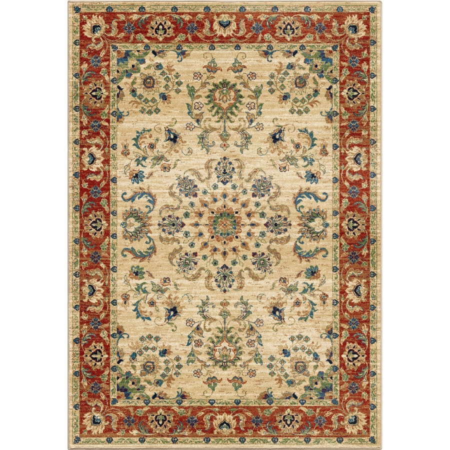 Orian Rugs Twisted Trad Bone Rectangular Indoor Machine-made Oriental Area Rug (Common: 5 x 8; Actual: 5.25-ft W x 7.5-ft L)