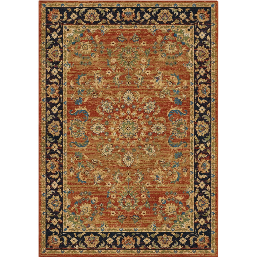 Orian Rugs Twisted Trad Brick Indoor Oriental Area Rug (Common: 5 x 8; Actual: 5.25-ft W x 7.5-ft L)