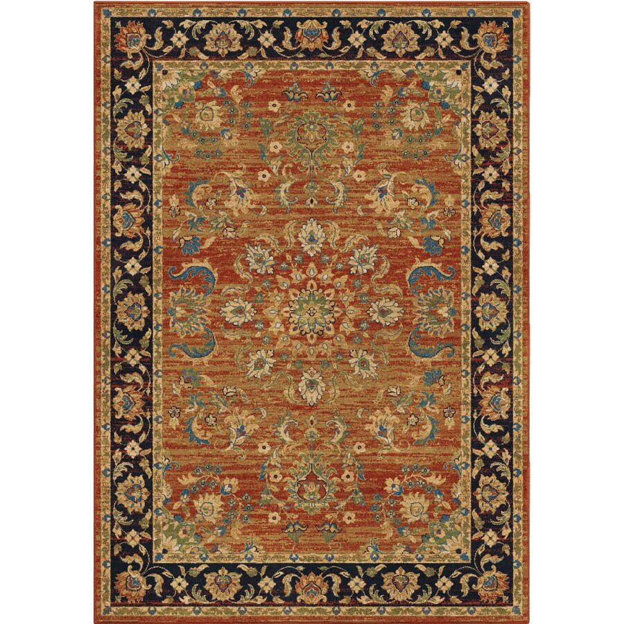 Orian Rugs Twisted Trad Brick Rectangular Indoor Machine-made Oriental Area Rug (Common: 8 x 11; Actual: 7.83-ft W x 10.83-ft L)