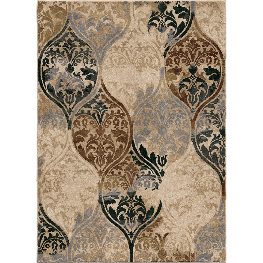 Orian Rugs Classic Ikat Ivory Indoor Oriental Area Rug (Common: 8 x 11; Actual: 7.83-ft W x 10.83-ft L)