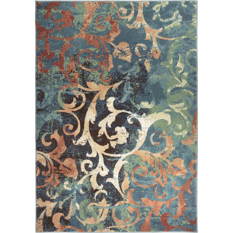Orian Rugs Watercolor Scr Multi Rectangular Indoor Machine-made Novelty Area Rug (Common: 7 x 10; Actual: 6.58-ft W x 9.67-ft L)
