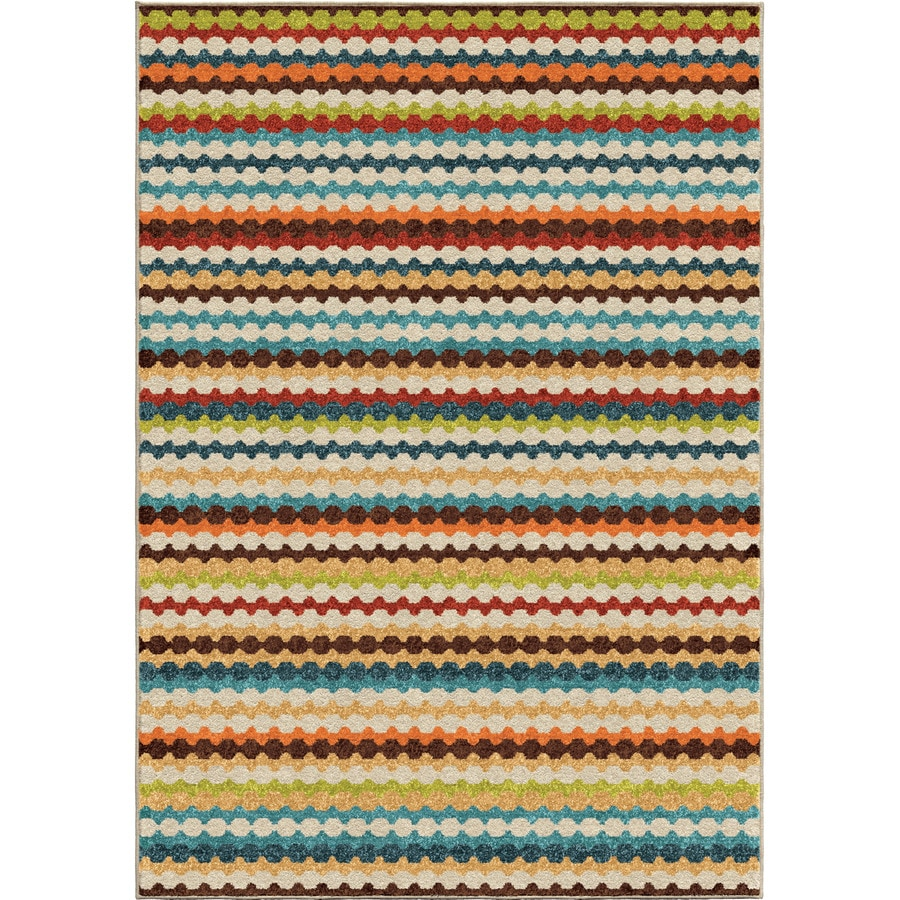 Orian Rugs Nik Nak Gemstone Indoor/Outdoor Novelty Area Rug (Common: 7 x 10; Actual: 6.42-ft W x 9.67-ft L)