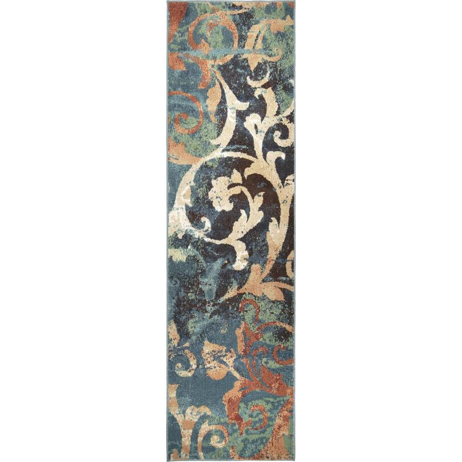 Orian Rugs Vibrance Multi Rectangular Indoor Machine-made Novelty Runner (Common: 2 x 8; Actual: 2-ft W x 8-ft L)
