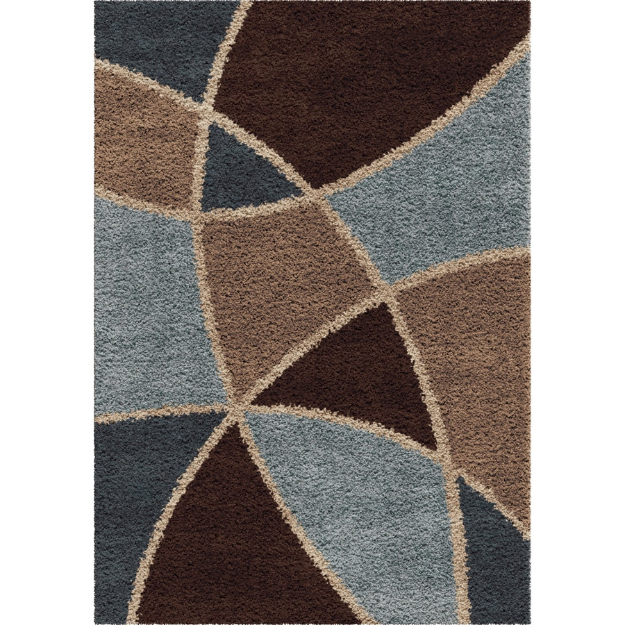 Orian Rugs Divulge Chocolate Rectangular Indoor Machine-made Novelty Area Rug (Common: 7 x 10; Actual: 6.58-ft W x 9.67-ft L)