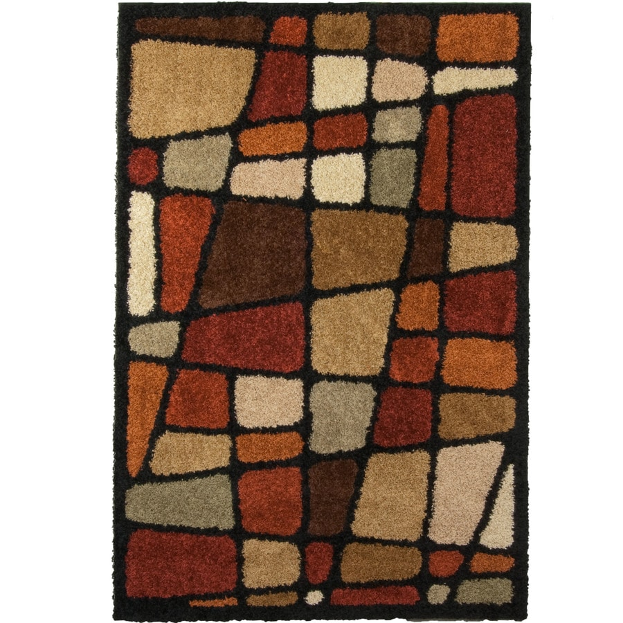 Orian Rugs Streetfair Brown Rectangular Indoor Machine-made Novelty Area Rug (Common: 7 x 10; Actual: 6.58-ft W x 9.67-ft L)