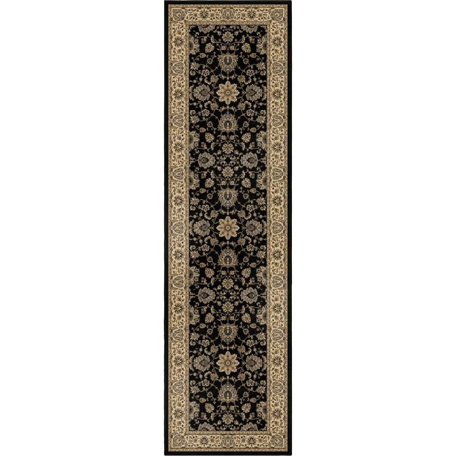 Orian Rugs Ballentine Black Rectangular Indoor Machine-made Oriental Runner (Common: 2 x 8; Actual: 2.25-ft W x 8-ft L)