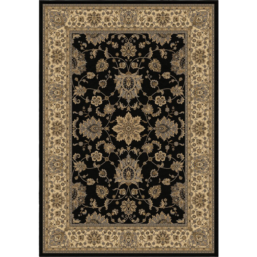 Orian Rugs Ballentine Black Rectangular Indoor Machine-made Oriental Area Rug (Common: 9 x 13; Actual: 9-ft W x 13-ft L)