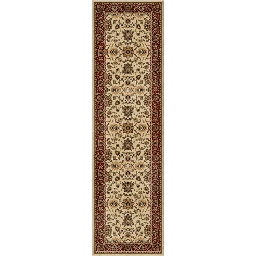 Orian Rugs Ballentine Ivory Rectangular Indoor Machine-made Oriental Runner (Common: 2 x 8; Actual: 2.25-ft W x 8-ft L)