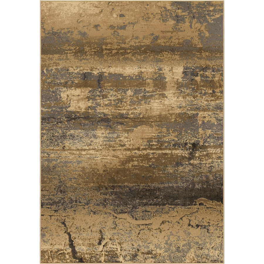 Orian Rugs Bonded Earth Beige Rectangular Indoor Machine-made Novelty Area Rug (Common: 5 x 8; Actual: 5.25-ft W x 7.5-ft L)
