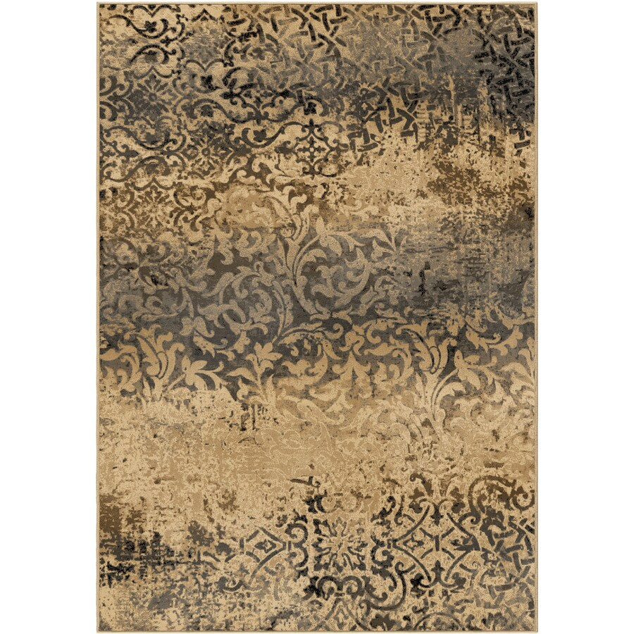 Orian Rugs Parched Scroll Beige Rectangular Indoor Machine-made Nature Area Rug (Common: 5 x 8; Actual: 5.25-ft W x 7.5-ft L)