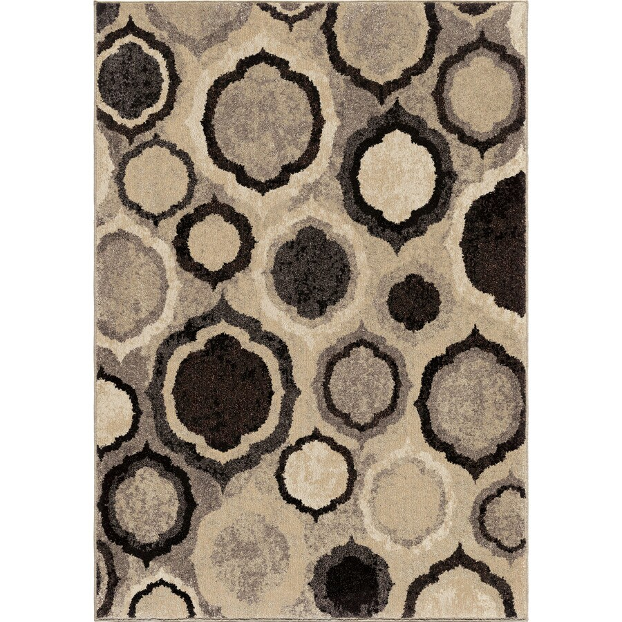 Orian Rugs American Classics Gray Rectangular Indoor Machine-Made Novelty Area Rug (Common: 5 x 8; Actual: 5.25-ft W x 7.5-ft L x 0-ft Dia)