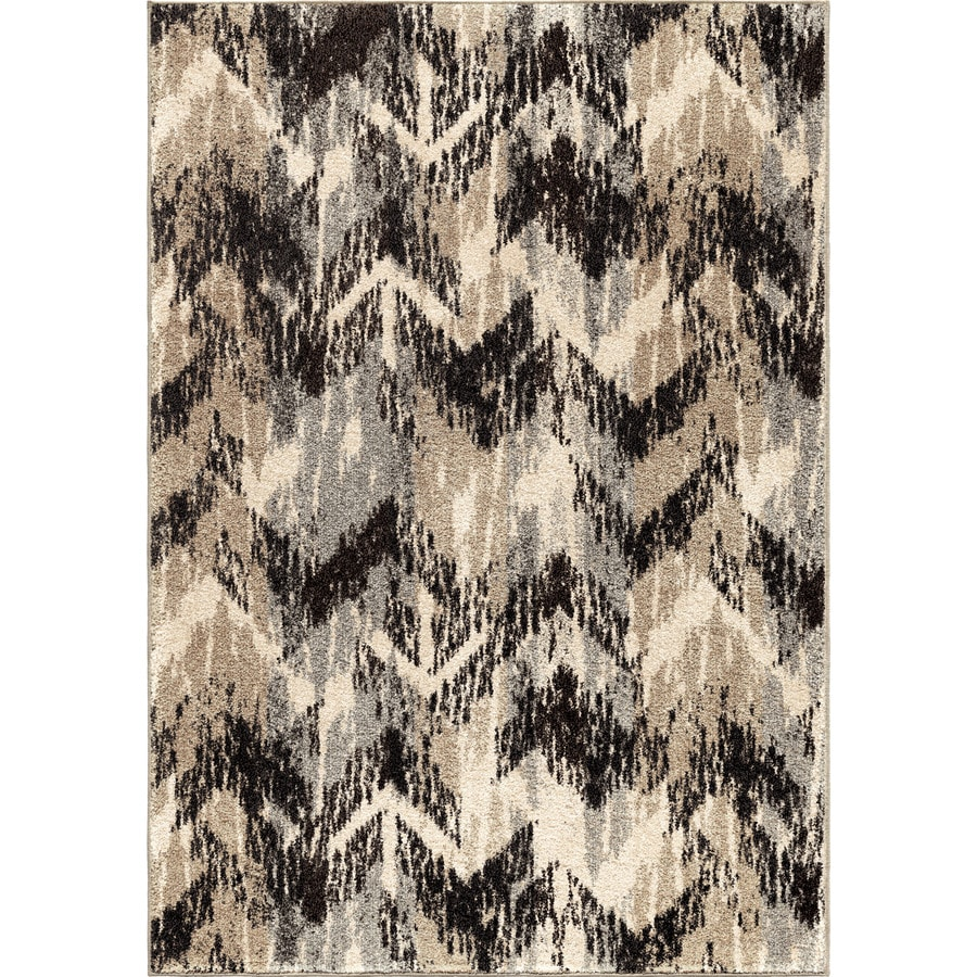 Orian Rugs Twisted Sisters Gray Rectangular Indoor Machine-made Novelty Area Rug (Common: 8 x 11; Actual: 7.83-ft W x 10.83-ft L)