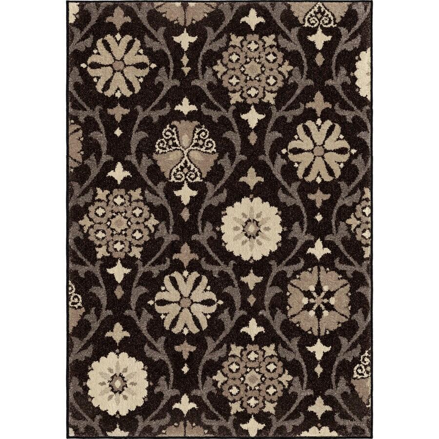 Orian Rugs Borrego Black Rectangular Indoor Machine-made Nature Area Rug (Common: 8 x 11; Actual: 7.83-ft W x 10.83-ft L)