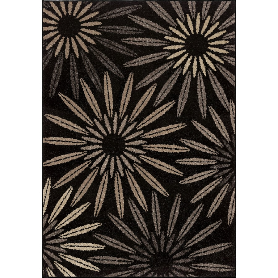Orian Rugs Anchorage Black Rectangular Indoor Machine-made Nature Area Rug (Common: 8 x 11; Actual: 7.83-ft W x 10.83-ft L)
