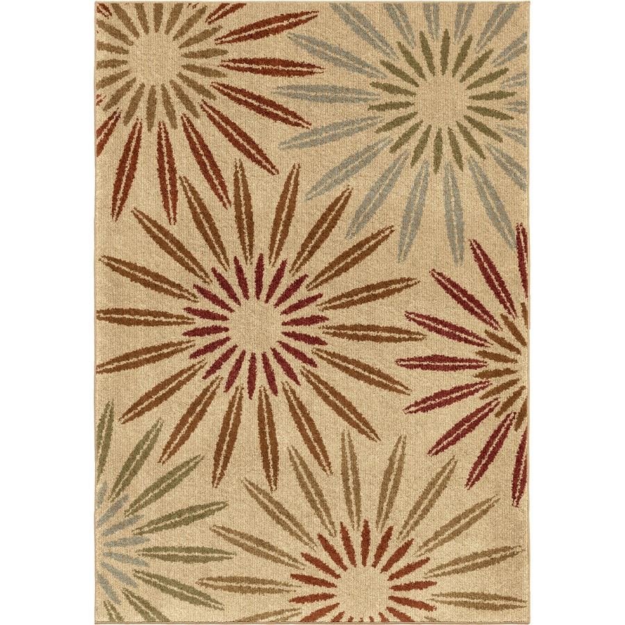 Orian Rugs Anchorage Ivory Rectangular Indoor Machine-made Nature Area Rug (Common: 5 x 8; Actual: 5.25-ft W x 7.5-ft L)