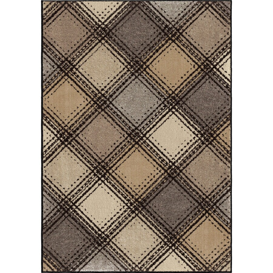 Orian Rugs Wilkes Plaid Gray Rectangular Indoor Machine-made Novelty Area Rug (Common: 8 x 11; Actual: 7.83-ft W x 10.83-ft L)