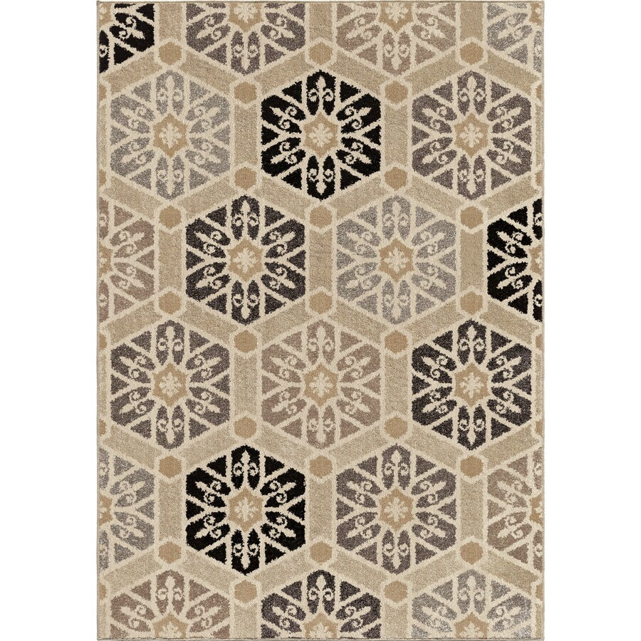 Orian Rugs Friona Ivory Rectangular Indoor Machine-made Nature Area Rug (Common: 8 x 11; Actual: 7.83-ft W x 10.83-ft L)