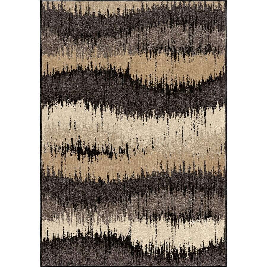 Orian Rugs Electric Waves Brown Rectangular Indoor Machine-made Novelty Area Rug (Common: 8 x 11; Actual: 7.83-ft W x 10.83-ft L)