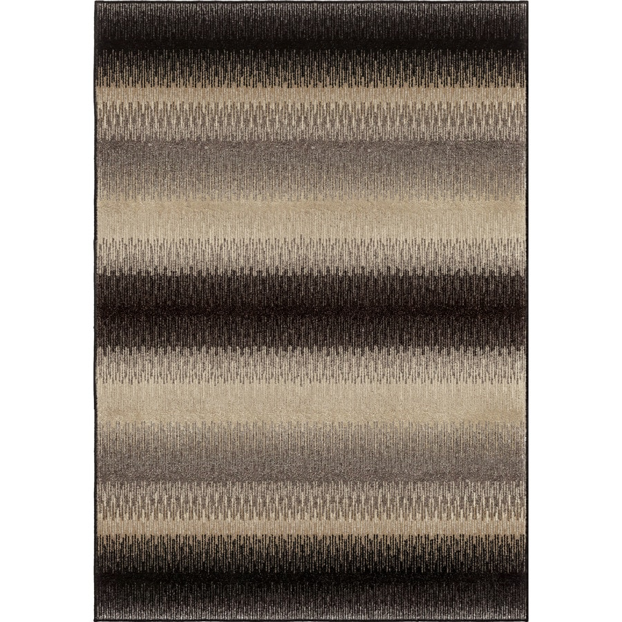 Orian Rugs Striped Evening Brown Indoor Novelty Area Rug (Common: 5 x 8; Actual: 5.25-ft W x 7.5-ft L)